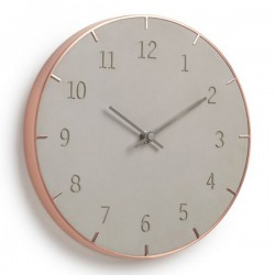 Umbra Piatto Wall Clock - concrete and copper clock
