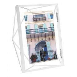 Umbra Prisma Photo Frame 5x7 - White - sculptural photo display