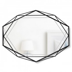 Umbra Prisma Mirror - Black - geometric wire designer mirror