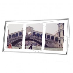 Umbra Prisma Multi Photo Display - Chrome - designer photo display