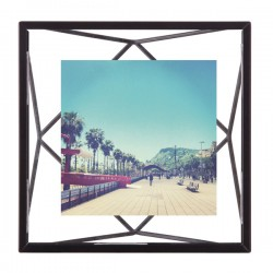 Umbra Prisma Photo Frame 4x4 - Black - designer 3D photo display