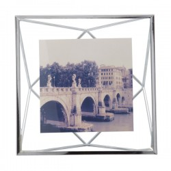 Umbra Prisma Photo Frame 4x4 - Chrome - designer 3D photo display