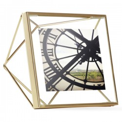 Umbra Prisma Photo Frame 4x4 - Brass - designer prism photo display