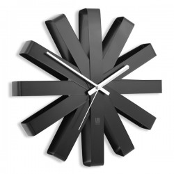 Umbra Ribbon Wall Clock - Black - modern sunburst clock