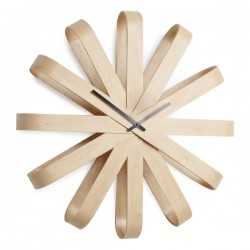 Umbra Ribbonwood Wall Clock - Red Candy