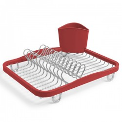 Umbra Sinkin Dish Rack - Red - designer sink drainer