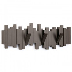 Umbra Sticks Multi Hook Espresso - designer wall decor coat rack