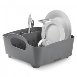 Umbra Tub Dish Rack - Charcoal - modern grey dish drainer