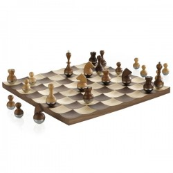 Umbra Wobble Chess Set - designer wooden chess set