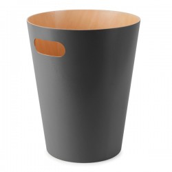 Umbra Woodrow Waste Bin - Charcoal - grey wood waste paper can