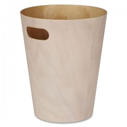 Umbra Woodrow Waste Bin - white wash natural wood trash can