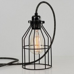 Bird Cage Lamp (Jet Black) - Red Candy