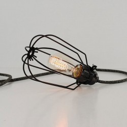 Drop Cage Lamp (Jet Black) - Red Candy