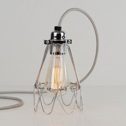 Flower Cage Lamp (Polished Steel) - Red Candy