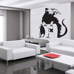 Banksy Rat A Wall Sticker - Large Rat Wall Transfer