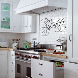Bon Appetit Wall Sticker - Large Kitchen Quote Wall Transfer