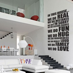In This House Wall Sticker (XL) - Red Candy
