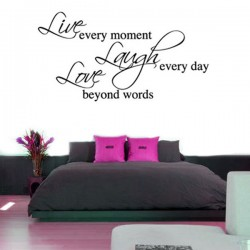 Live Laugh Love Wall Sticker (Large) - Red Candy