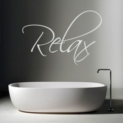 Relax Wall Sticker - Large - Word Wall Decor