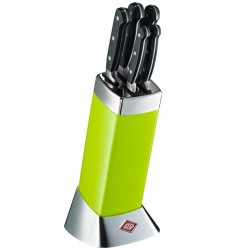 Wesco Classic Line Knife Block with Knives (Lime Green) - Red Candy