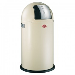 Wesco Pushboy Bin - designer almond kitchen trash can