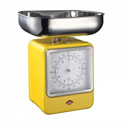 Wesco Retro Scales with Clock (Lemon Yellow) - Red Candy