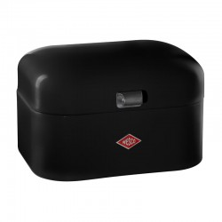 Wesco Single Grandy Bread Bin – small black modern bread bin