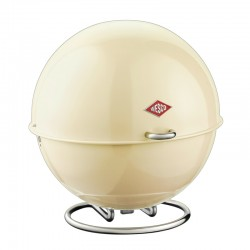 Wesco Superball Bread Bin - Almond - modern cream bread bin