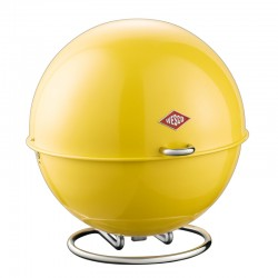 Wesco Superball Bread Bin - Lemon Yellow - colourful bread store