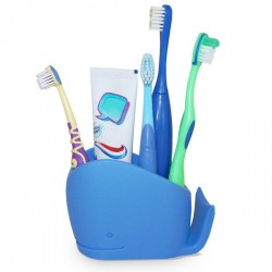 Wilson Whale Bathroom Tidy - Red Candy