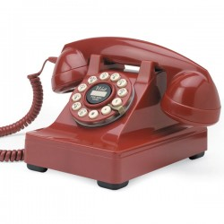 Wild & Wolf 32 Desk Phone - red classic telephone