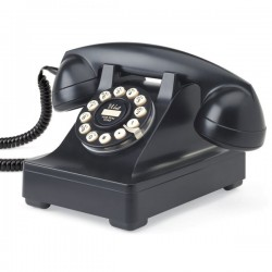 Wild and Wolf 302 Desk Phone in Black - classic black telephone