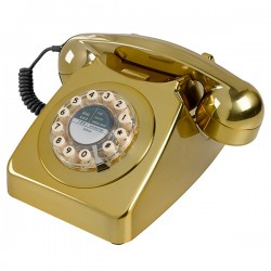 Wild and Wolf 746 Phone - Brass Brushed - metallic telephone
