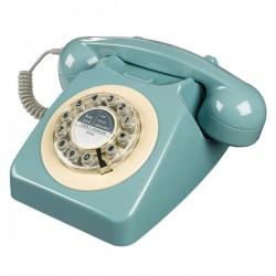 Wild and Wolf 746 Phone in French Blue - blue retro telephone