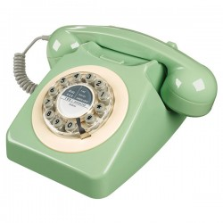 Wild and Wolf 746 Phone in Swedish Green - mint retro telephone
