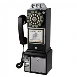 Wild and Wolf Diner Phone (Black) - Red Candy