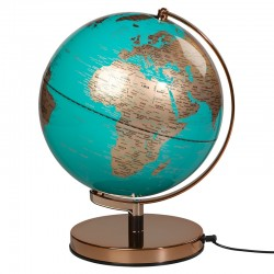 Globe Light - Azure Blue & Copper - modern globe lamp - Wild Wood