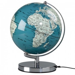 Globe Light - French Blue - light up globe - Wild Wood