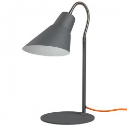 Gooseneck Lamp - Concrete Grey - designer desk light - Wild Wood