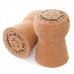 Giant Champagne Cork Stool - Red Candy