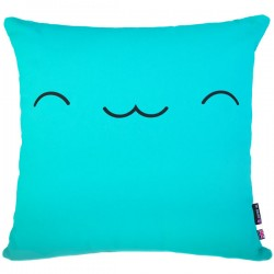 Yo Kawaii Cushion Friend - kikii turquoise cotton cushion