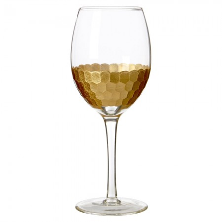 Honeycomb Wine Glasses (Set of 4) - Red Candy