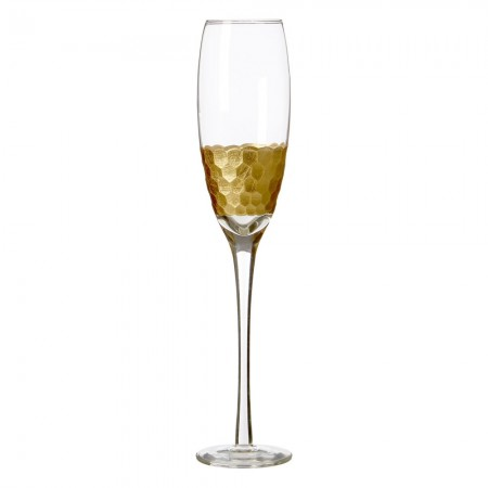 Honeycomb Champagne Glasses (Set of 4) - Red Candy