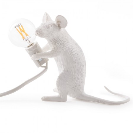 Seletti Mac - Sitting Mouse Lamp - Red Candy