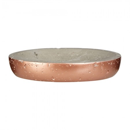 Copper & Concrete Oval Soap Dish - Red Candy