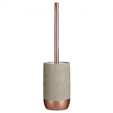 Copper & Concrete Toilet Brush Holder - Red Candy