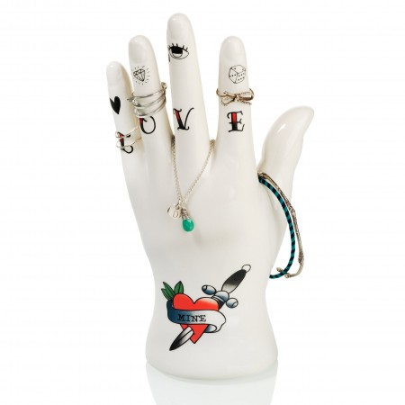 Tattoo Hand Jewellery Holder - Red Candy