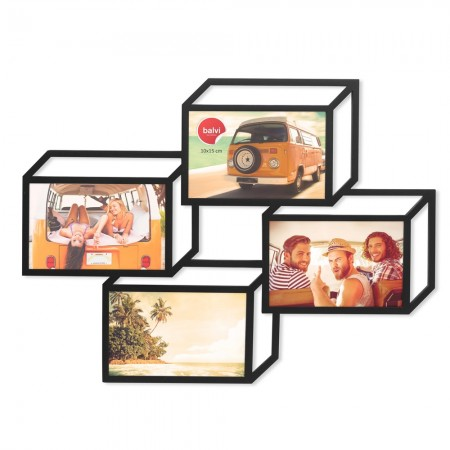 3D Photo Frame (4 Apertures) - Red Candy