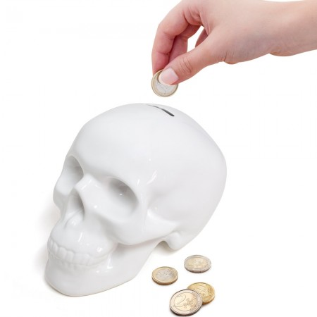 Skull Money Box - Red Candy