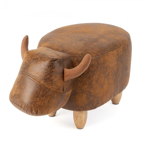 Benton the Bull Footstool - Red Candy